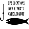 NC Saltwater Fishing - New River to Cape Lookout GPS Map