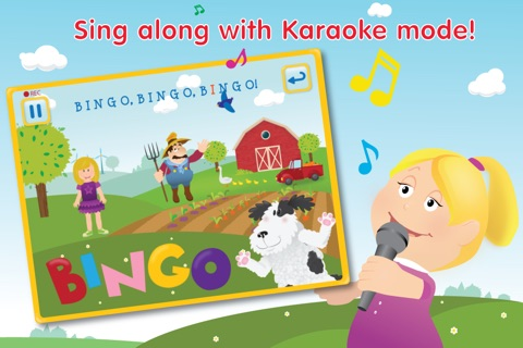 Kids Apps ∙ Bingo ABC alphabet phonics song. Interactive Nursery Rhymes with Karaoke music. screenshot 1