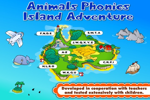 Kindergarten Phonics Island Adventure - Learn to Read Montessori Games with Puzzle Animal Train for Kids Hooked on Reading by Abby Monkey® screenshot 2