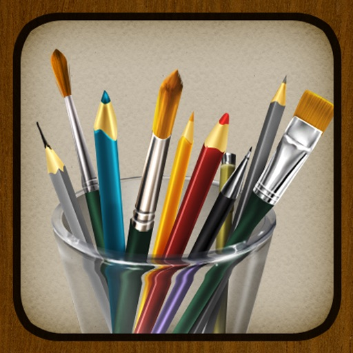 我的画笔 MyBrushes for iPhone – 100种笔型的画板, 支持中国画,油画,水彩画,书法艺术