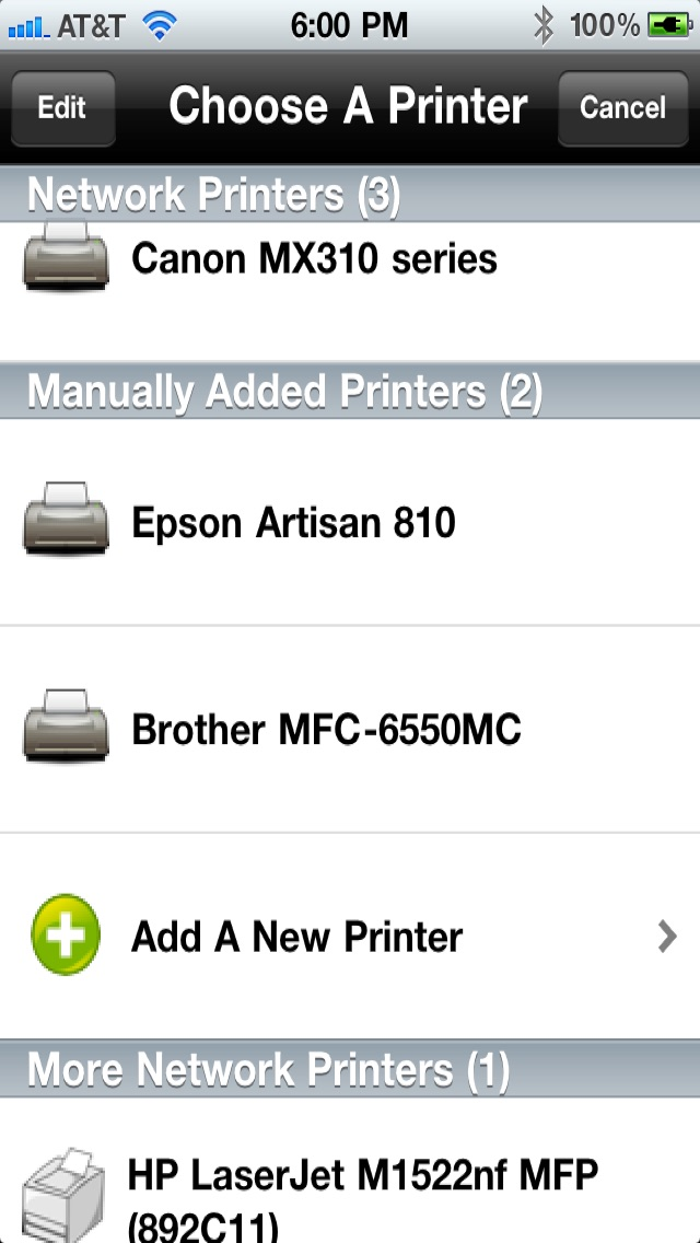 Printing for iPhone Printer Verification Скриншоты3
