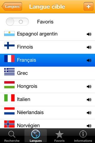 Dictionnaire 20 langues des mots usuels screenshot 2