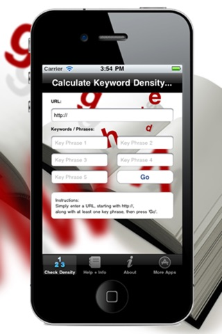 Keyword Density seo analysis screenshot 1