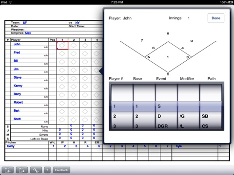 Baseball Score Sheet On The App Store