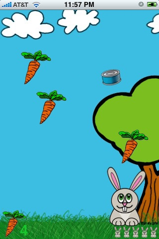 Eat, Bunny, Eat! Screenshot on iOS