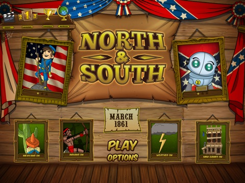 NORTH & SOUTH - The Game Screenshot