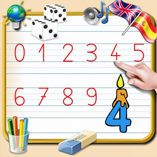 aprenda a escrever os números de 0 a 9 com corta para aprender a