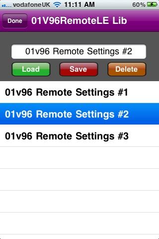 01v96 Remote LE screenshot 3