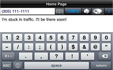 SMS Big Keyboard Deluxe screenshot 1