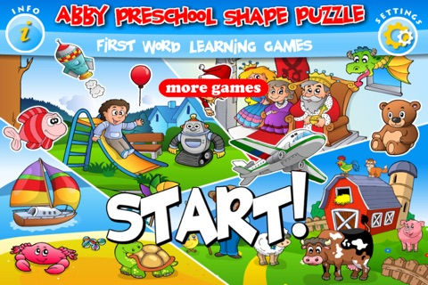 Abby - Preschool Shape Puzzle - First Word FREE (Vehicles and Animals under the Sea) screenshot 2