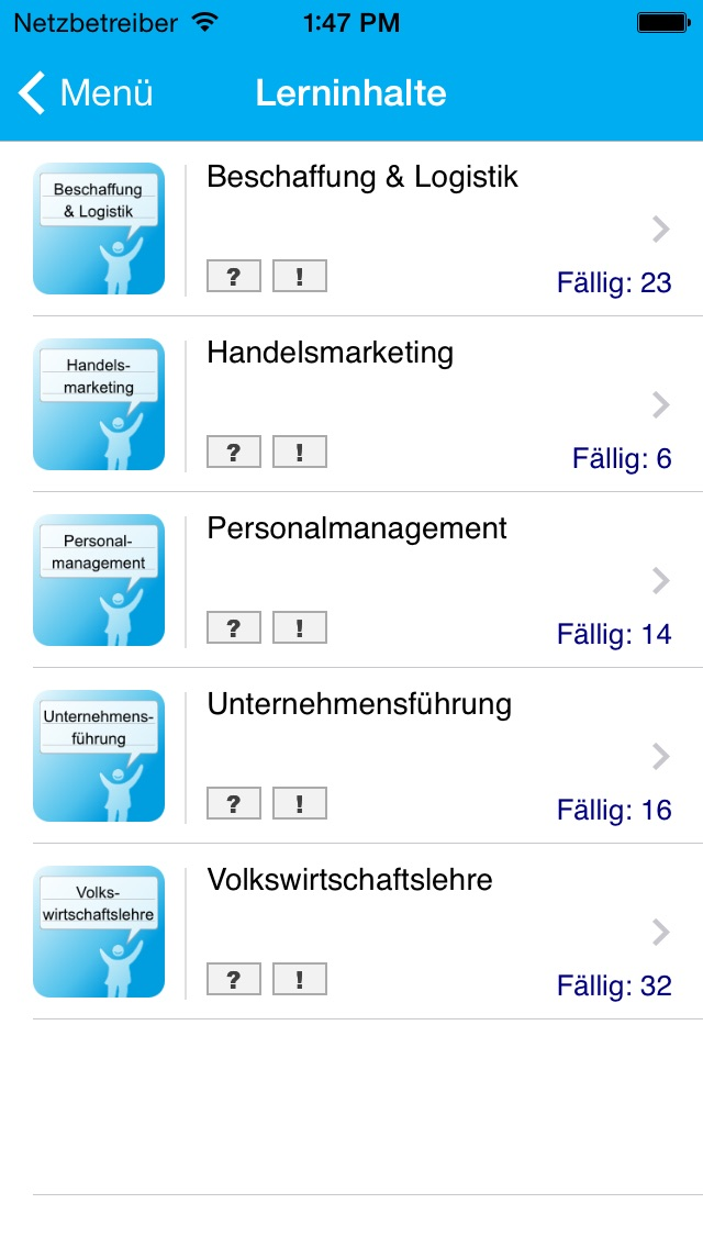 handelsfachwirt learner f r ihk pr fungen app insight download. Black Bedroom Furniture Sets. Home Design Ideas