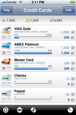 Credit Card Expense Manager screenshot 1