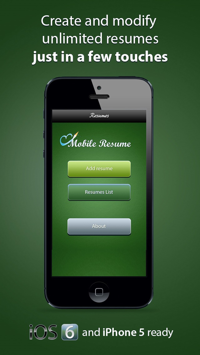 pocket mobile resume for iphone app download