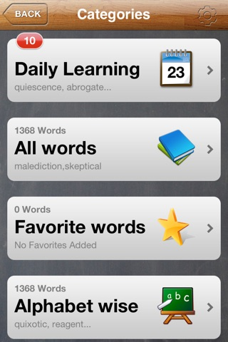 GRE Flash Cards App screenshot 2