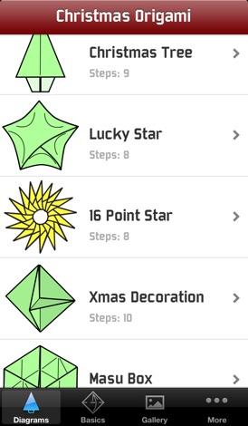 weihnachts origami f r iphone herunterladen appszoom. Black Bedroom Furniture Sets. Home Design Ideas