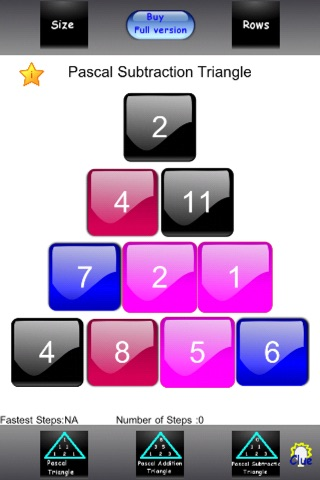 Numbers Triangle Lite screenshot 1