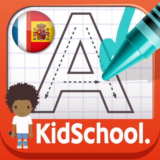 KidSchool : My first alphabet in French & Spanish for iPad iOS App