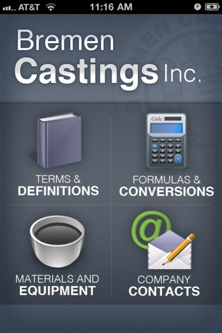 BremenCastingsApp screenshot 1