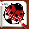 Malen + Stickern! (Malbuch von Happy Touch Kinderspiele) Pocket