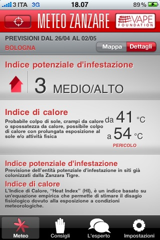 MeteoZanzare screenshot 3