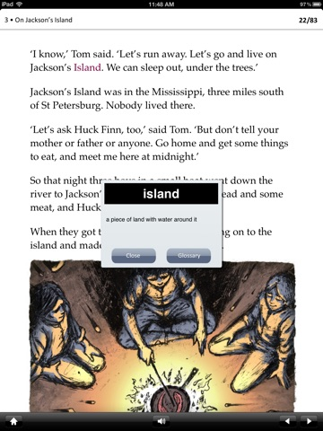 The Adventures of Tom Sawyer: Oxford Bookworms Stage 1 Reader (for iPad) screenshot 3