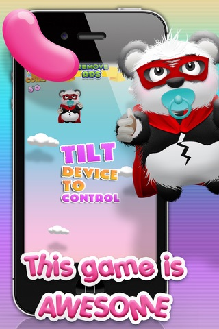 Baby Panda Bears Candy Rain - A Fun Kids Jumping Edition FREE Game! screenshot 1