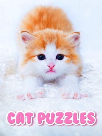Screenshots of Cat Kitten Kitty Pet Baby Animal JIgsaw Puzzle Games for Girls who love educational memory learning puzzles for kids and toddlers for iPad