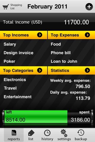 uSpend Screenshot on iOS