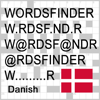 Words Finder PRO Dansk/Danish - find the best words for crossword, Wordfeud, Scrabble, cryptogram, anagram and spelling
