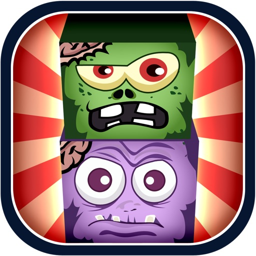 Zombie Block Heads - Monster Stacking Madness FREE iOS App