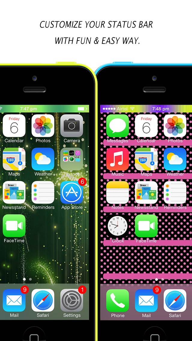 Télécharger Color Dock Customizer Colored Top And Bottom Bar