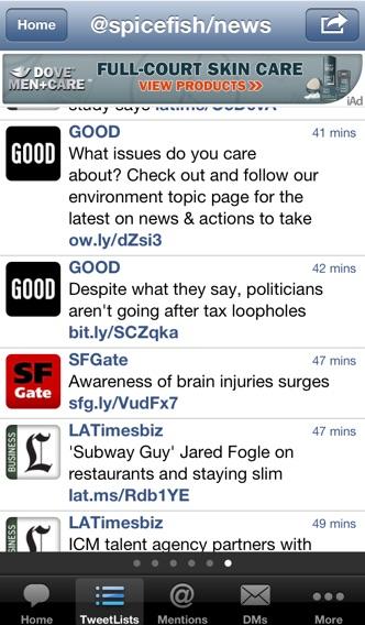 TweetList for Twitter screenshot1