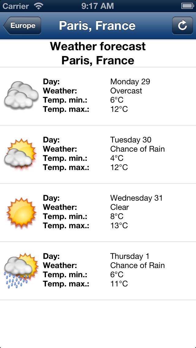 погода в миреСкриншоты 3
