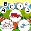 123 & ABC Auto Fahr-Schule Für Klein-Kinder und Babies! Kostenlose App: Spiel-Spaß & Gratis Fahrzeug-e fahren, Mathe-Aufgaben und logische Herausforderung-en er-lern-en