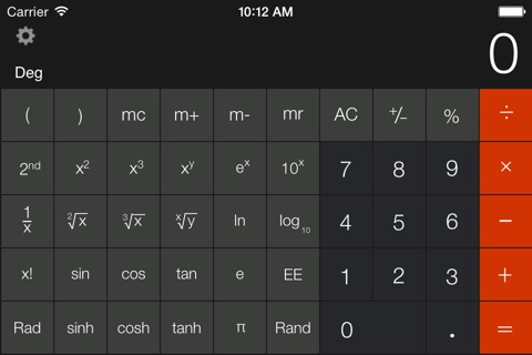 Calculator Free - for iPad screenshot 2