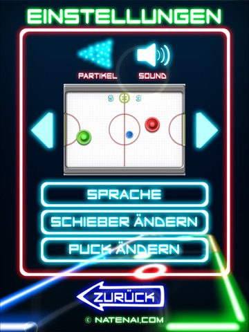 Glow Hockey 2 HD Screenshot