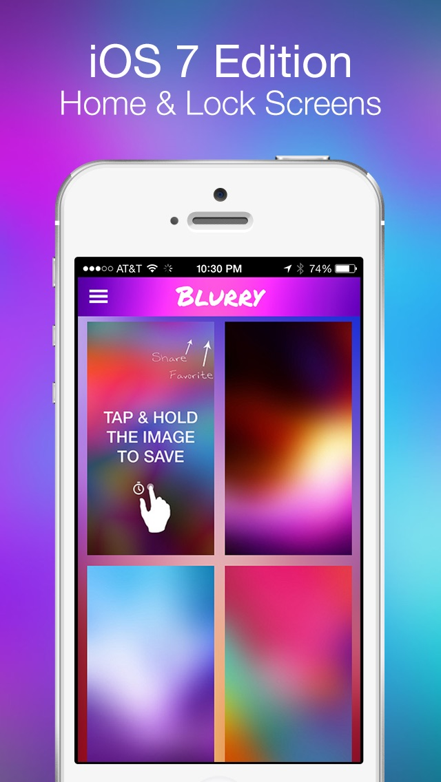 Blurry - Wallpapers for iOS 7Screenshot of 2
