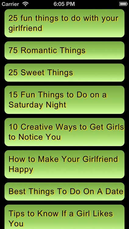 Special things to do with your girlfriend