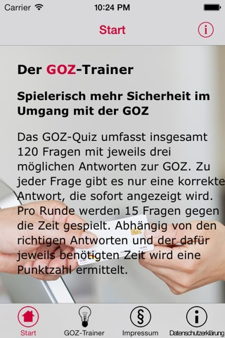 GOZ-Trainer screenshot 1