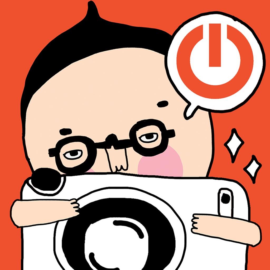 8清新可爱的照片加料应用大家知道图标上抢镜的卖萌小人是哪位吗?