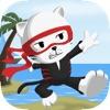 Tiny Ninja Cat: A Real Fun Run Adventure Challenge Game for Boys & Girls Free