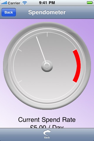 Spendometer screenshot 1