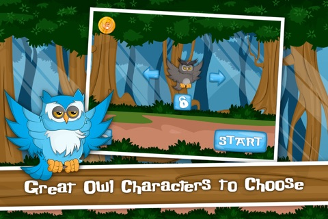 The Flippy Flappy Floppy Owl - A Tap Flap and Fly Bird Game screenshot 2