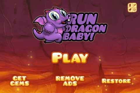 Run Dragon Baby - Free Jump Lava for Magic Gems Edition screenshot 1