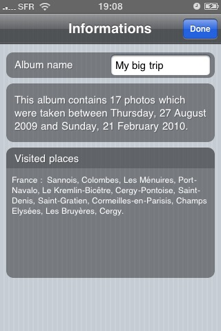 TravelPad Lite : Album photo de voyage screenshot 4