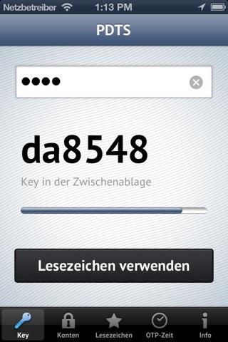 iOTP screenshot 1