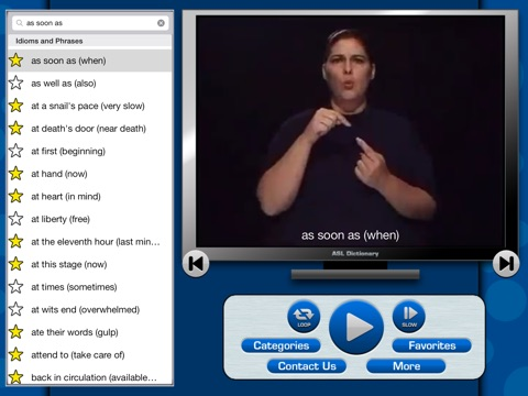 ASL Dictionary for iPad screenshot 2