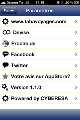 Tahavoyages.comCapture d'écran de 5