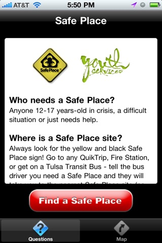 Safe Place Tulsa screenshot 1