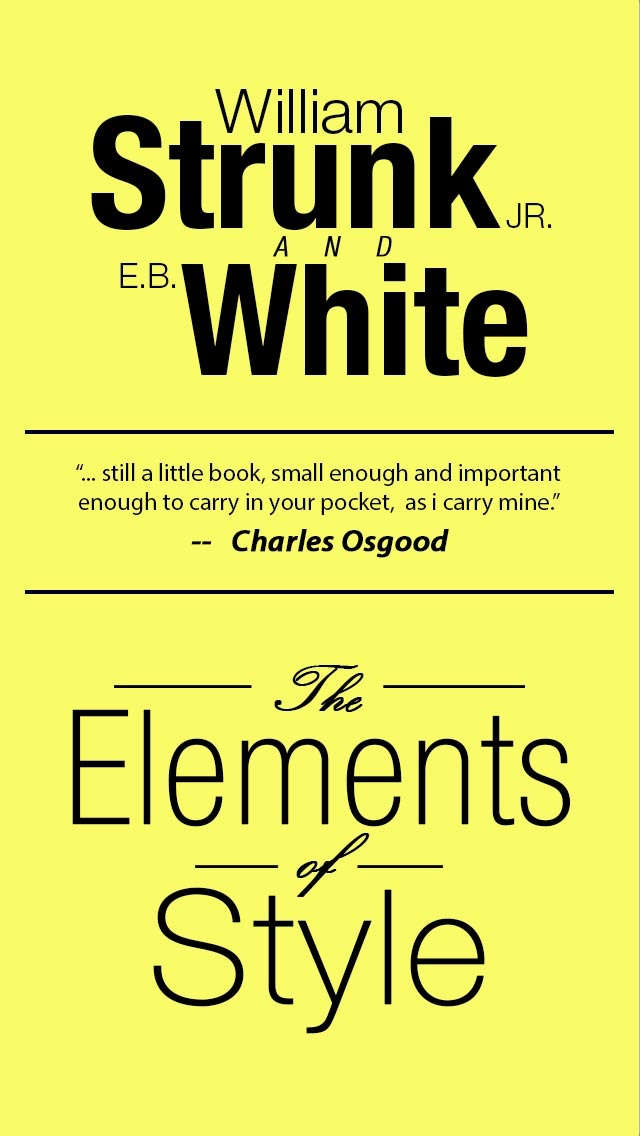 The Elements of Style, Fourth Edition By William Strunk